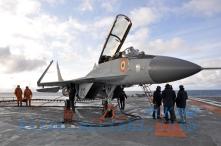MiG-29K on INS Vikramaditya