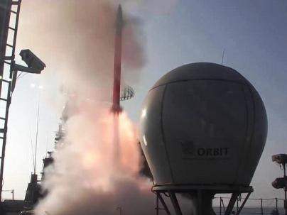 Test firing the Barak-8 LRSAM