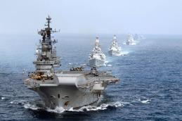 The Indian Navy's western fleet, spearheaded by INS Viraat, was ready to blockade Pakistan in 1999