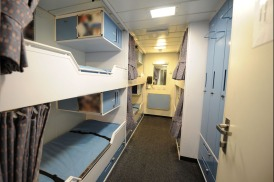 Sailors sleeping quarters onboard Type 45 destroyer HMS Daring. Picture: Petty Officer (Photographer) Amanda Reynolds