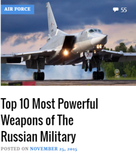 rus weapons