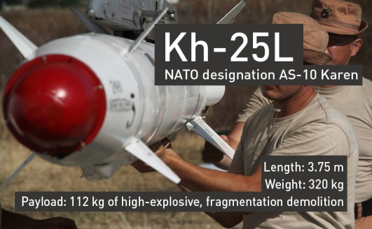 Kh-25L Air to Ground Missile ©RT
