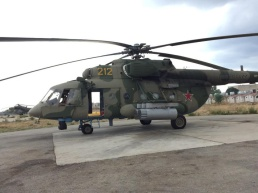 Mi-8AMTSh . Note the Mi-24 in the background.