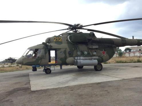 Mi-8AMTSh . Note the Mi-24 in the background.