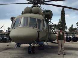 The Mi-8AMTSh carries 4 rocket pods, each with 20 rockets for fire support