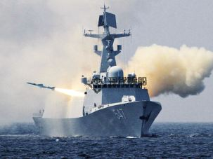 Firing a C-803 Anti-Ship Missile