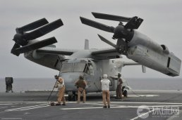 MV-22 Osprey during trials with the Japanese Navy