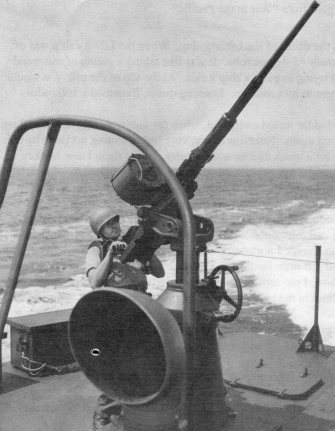 A WW2 Oerlikon 20 mm gun