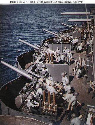 WW2 era 127 mm guns