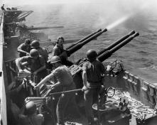 WW2 era Bofors 40 mm guns