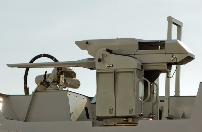 A modern Nexter 20 mm gun in a Remote Weapons Station