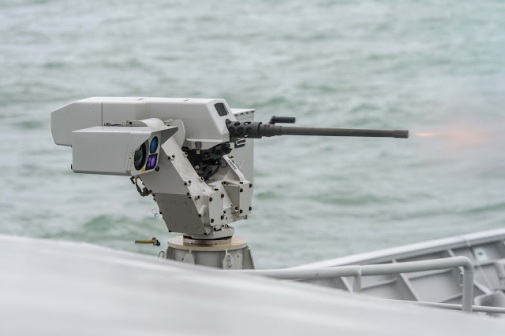 FN Herstal Sea DeFNder 12.7 mm machine gun RWS (Remote Weapons System)