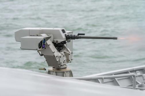 FN Herstal Sea DeFNder 12.7 mm machine gun RWS (Remote Weapons System)
