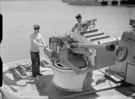 A WW2 era 57 mm gun