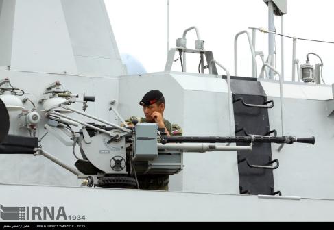 14.5 mm machine gun on board a Russian Navy warship