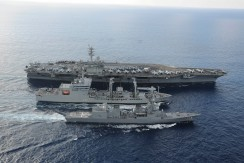 Indian, Japanese and US Navy Ships during Exercise-Malabar- 2015