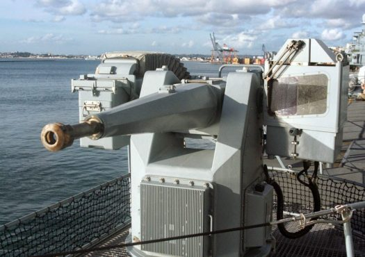 A Mauser 27 mm MLG27 on board a German Navy frigate
