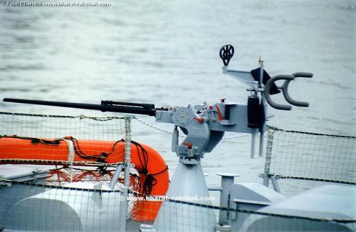 An Israeli 20 mm gun on board an Indian Navy Super Dvora patrol boat