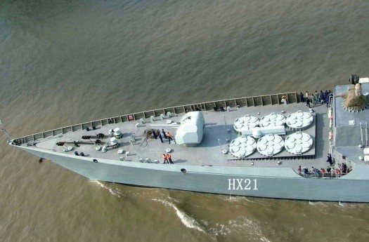 Type 052C HHQ-9 destroyer Luyang II class Lanzhou People's Liberation Army Navy china Active Electronically Scanned Array(AESA) Type 730 CIWS C-805 602 anti-ship land attack cruise missiles (6).jpg